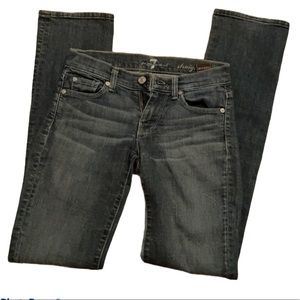 7 for all mankind straight leg size 23
